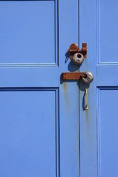 Pale Blue Door Lock by Darren Kearney