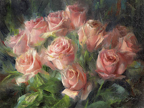 Pale Roses by Anna Rose Bain