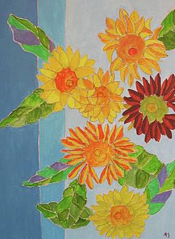 Pale Sunflowers by Martin Silverstein