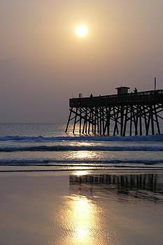 Pale sunrise at the pier 4-26-15 by Julianne Felton