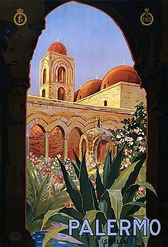 Palermo Italy, travel poster for ENIT, ca. 1920 by Vintage Printery