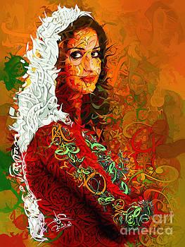 Palestanian with red by Imad Abu shtayyah