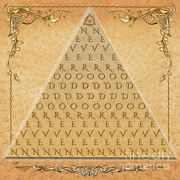 Bedros Awak - Palindrome Pyramid V1-Decorative