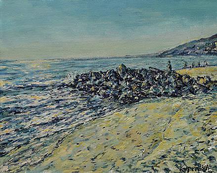 Palisades Beach by Eugene Kuperman
