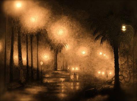 Palisades Park Sepia II by Chris Haugen