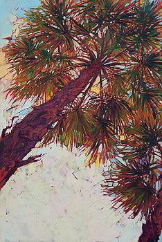 Palm Color - Triptych Left Panel by Erin Hanson