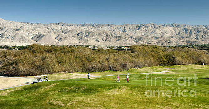 David Zanzinger - Palm Desert Golf Fairway Mountains