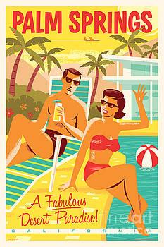 Palm Springs Retro Travel Poster by Jim Zahniser