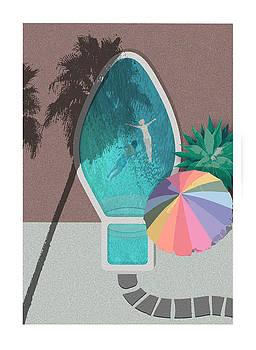 Palm Springs Xmas Bulb Pool by Stan  Magnan