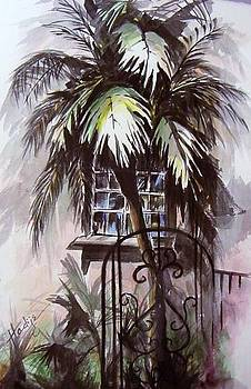 Palm Tree And Window by Mary DuCharme