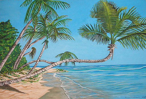 Palm Tree by Edward Maldonado