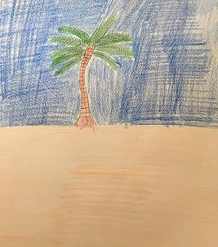 Palm Tree in Paradise by James Shelton