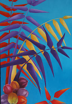 Palm Tree with Coconuts 1 by Karin Eisermann
