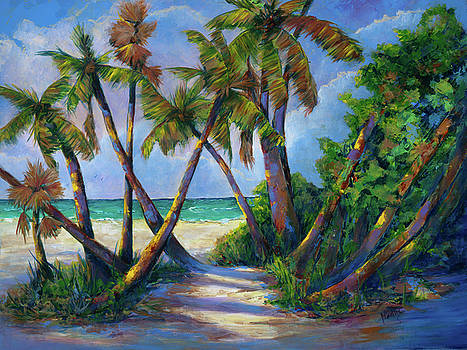 Palm Trees at the Sea by Mary DuCharme