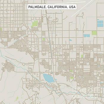 PalmdaleCaliforniaUSCityStreetMap_60000 by Frank Ramspott