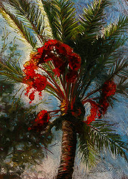 Palm's A Glow by Carole Haslock