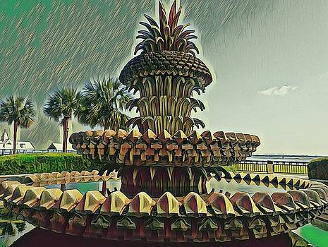 Palms and Pineapples by Sherry Kuhlkin