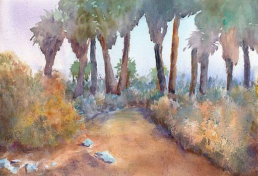 Palms in Fog by John Ressler