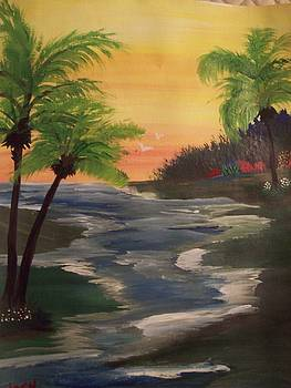Palms in the breeze by Teresa Nash