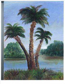 Palms Three by Shirley Lawing