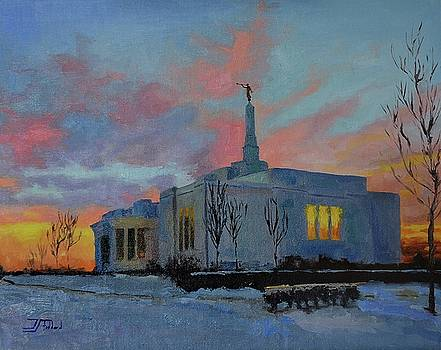Palmyra Temple at Sunset by Jan Christiansen