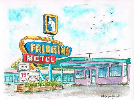 Palomino Motel in Route 66, Tucumcari, New Mexico by Carlos G Groppa