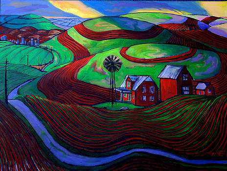 Palouse Farmscape Windmill by Gregg Caudell