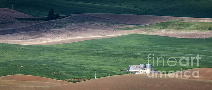Palouse Farm Pano 1 by Jerry Fornarotto