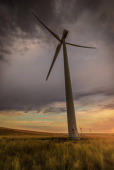 Palouse Windmill at Sunrise by Chris McKenna