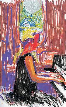 Pam Heinemann at the Piano by Candace Lovely