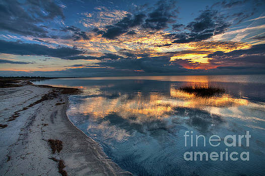 Pamlico Sound Sunset on the Outer Banks by Dan Carmichael