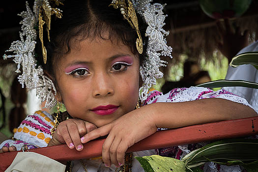 Panamanian Girl on Float in Parade by Tod Colbert