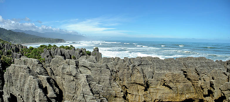 Pancake Rocks Pano by Megan Martens