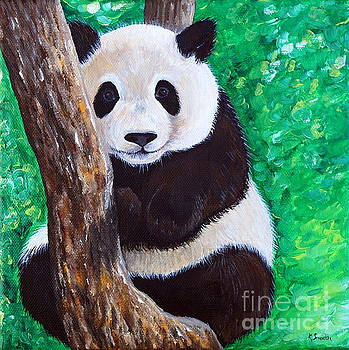 Panda in a Tree by Kirsten Sneath