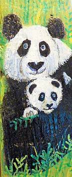 Panda Mother and Cub by Ann Michelle Swadener