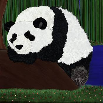 Alisha at AlishaDawnCreations - Panda Sitting by Bamboo
