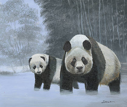 Panda Winter Finished by Harold Shull