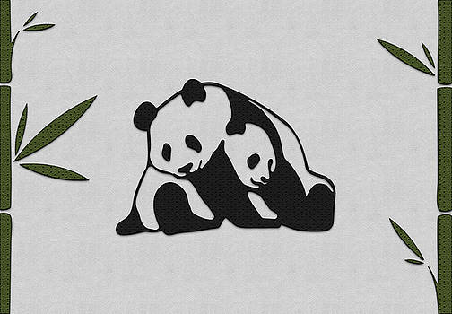 Panda with cub by Anton Kalinichev