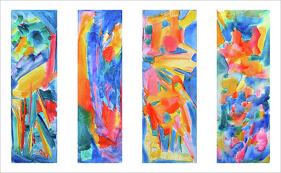 Panels of Dance 1, 3, 5,7 by Tolere