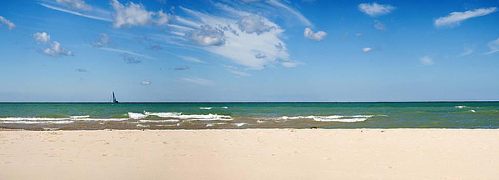 Pano of Silver Lake Sand Dunes at Lake Michigan by Samantha Boehnke