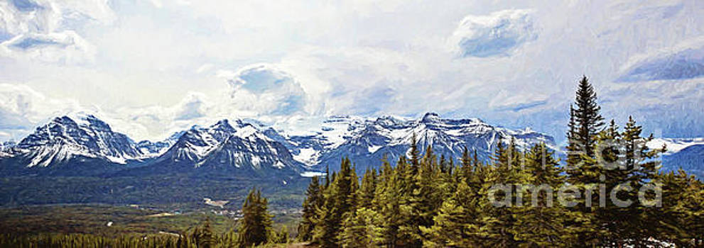 Pano of the Mountains Surrounding Lake Louise by Scott Pellegrin