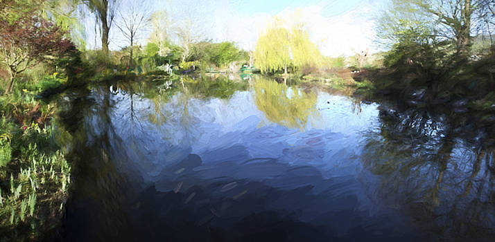 Panorama 2 of Monets Garden in Giverny by David Smith