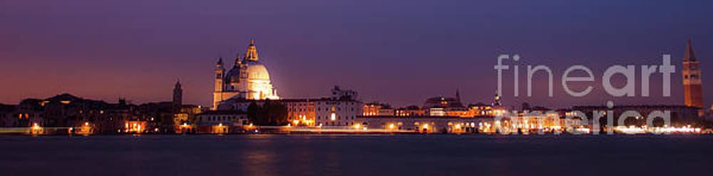 Panorama by night of venice, city in Italy by Amanda Mohler