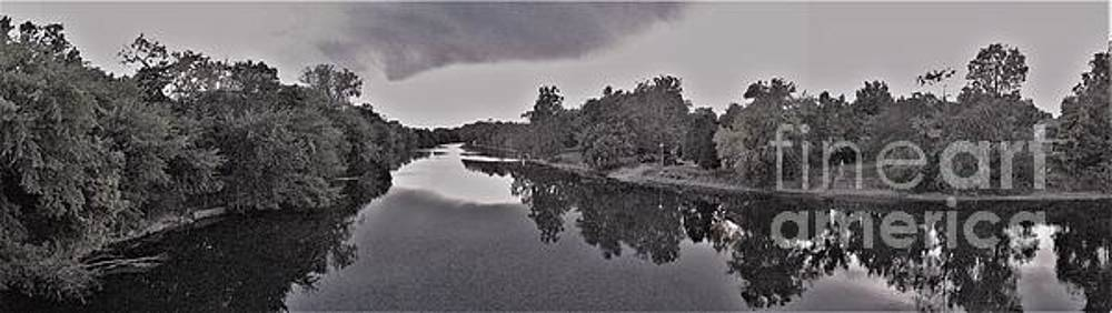 Panorama Looking West         St. Joseph River        Black and White       Indiana by Rory Cubel