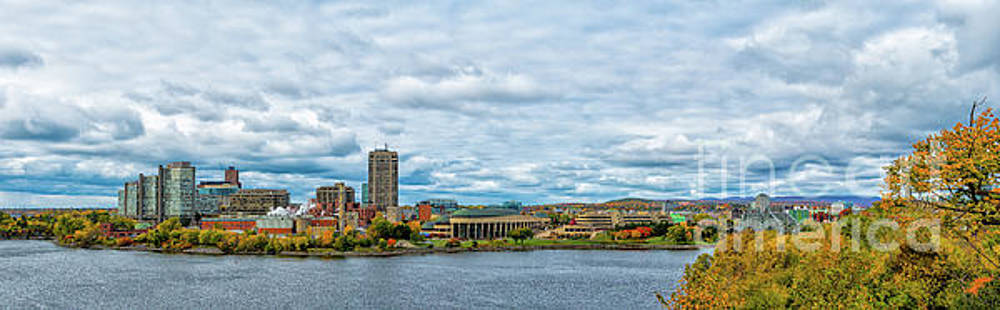 Panorama of Gatineau Quebec across the River from Ottawa Ontario  by Robert McAlpine