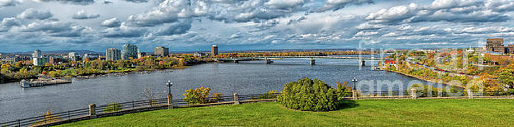 Panorama of Gatineau, Quebec and Ottawa, Ontario Looking East on the Ottawa River by Robert McAlpine
