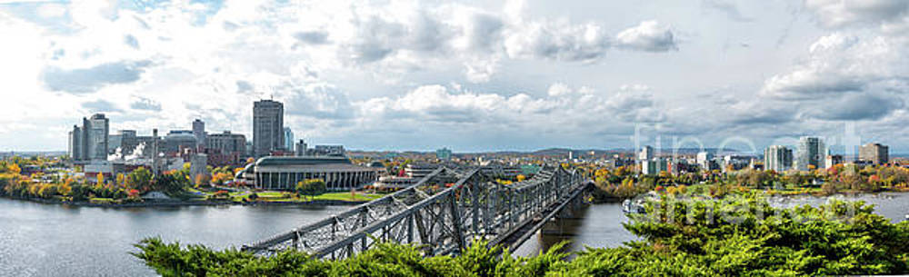Panorama of Gatineau, Quebec Lookig North the Alexandra Bridge from Nepean Point, Ottawa Ontar by Robert McAlpine