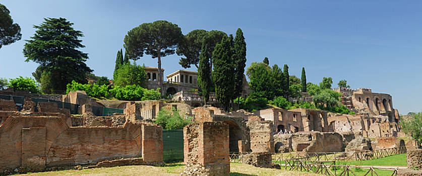 Reimar Gaertner - Panorama of Imperial building complex on the Palatine Hill Rome