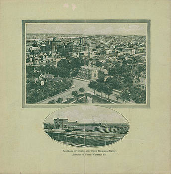 Chicago and North Western Historical Society - Panorama of Omaha and Union Terminal From Across Picturesque Illinois and Iowa