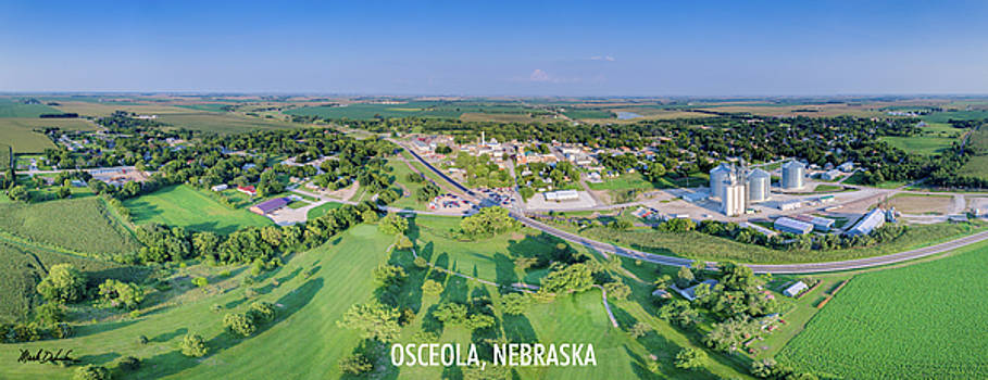 Panorama of Osceola Nebraska Poster Version by Mark Dahmke